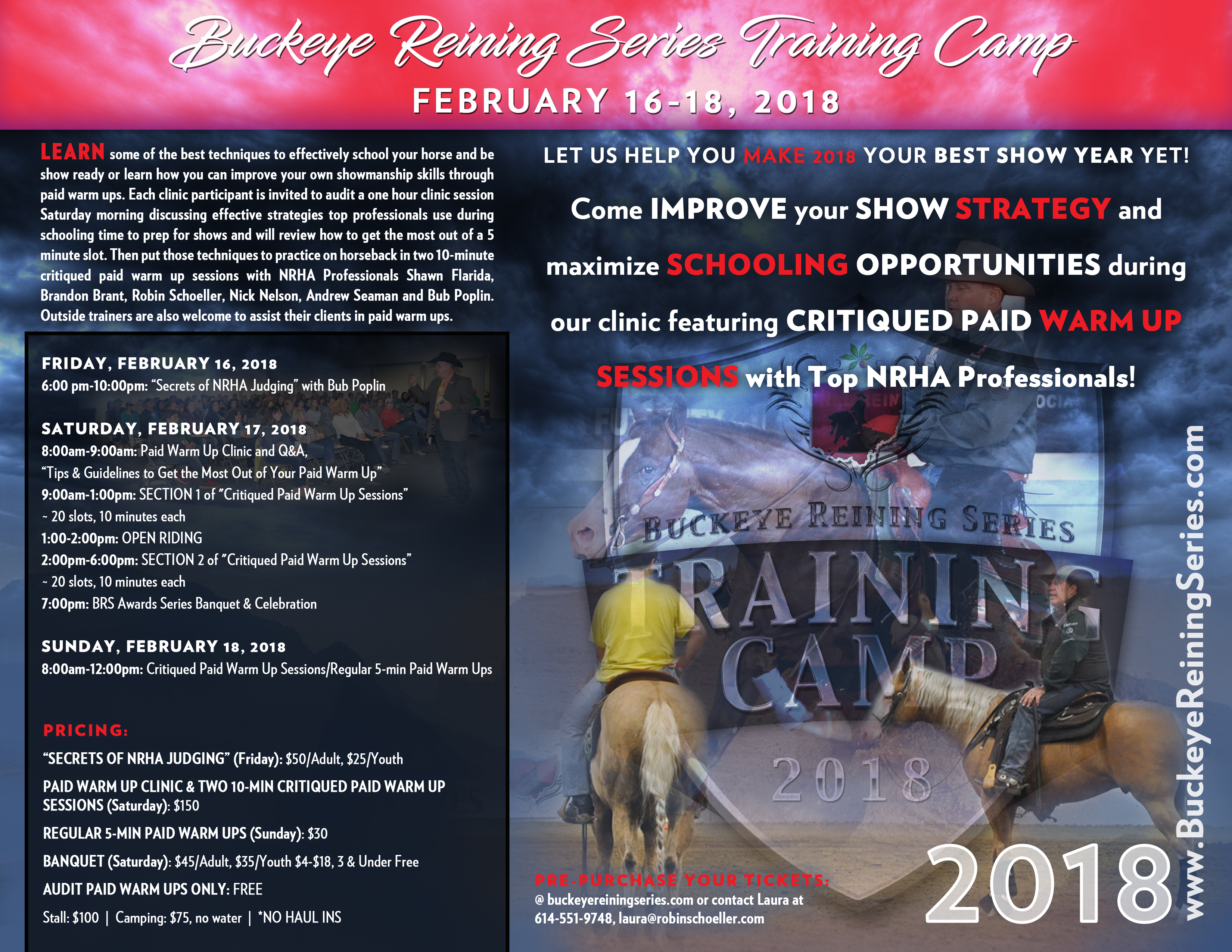 Brs training camp buckeye reining series click here to buy tickets sell tickets online with ticket tailor publicscrutiny Image collections